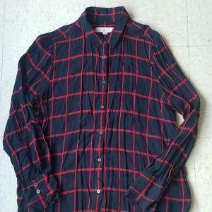 Ann Taylor Loft Women's Button Front L/S Shirt